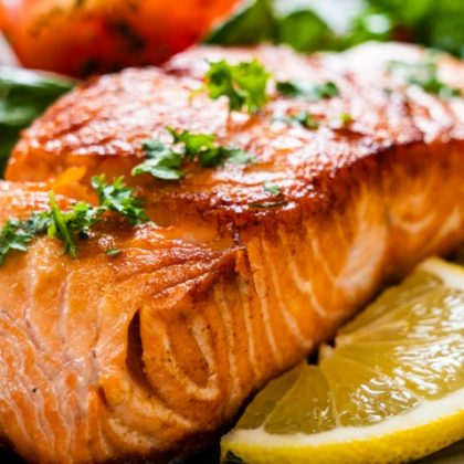 Pave saumon grillé